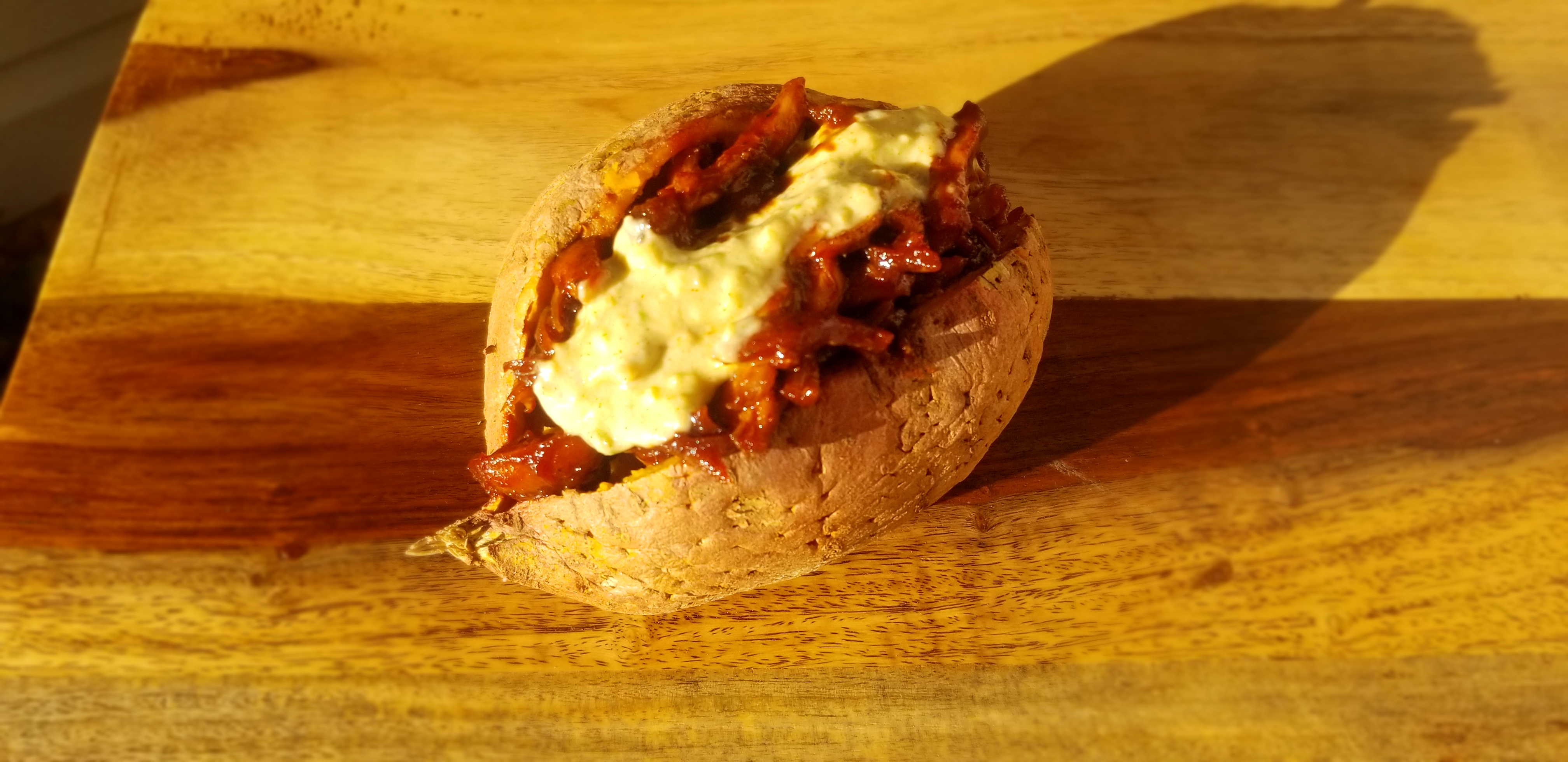 SWEEETHEAT BBQ Chicken Stuffed Sweet Potato