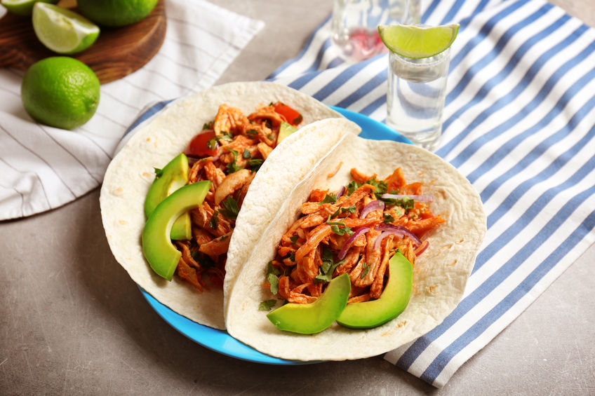 SWEEETHEAT Pulled Chicken Tacos