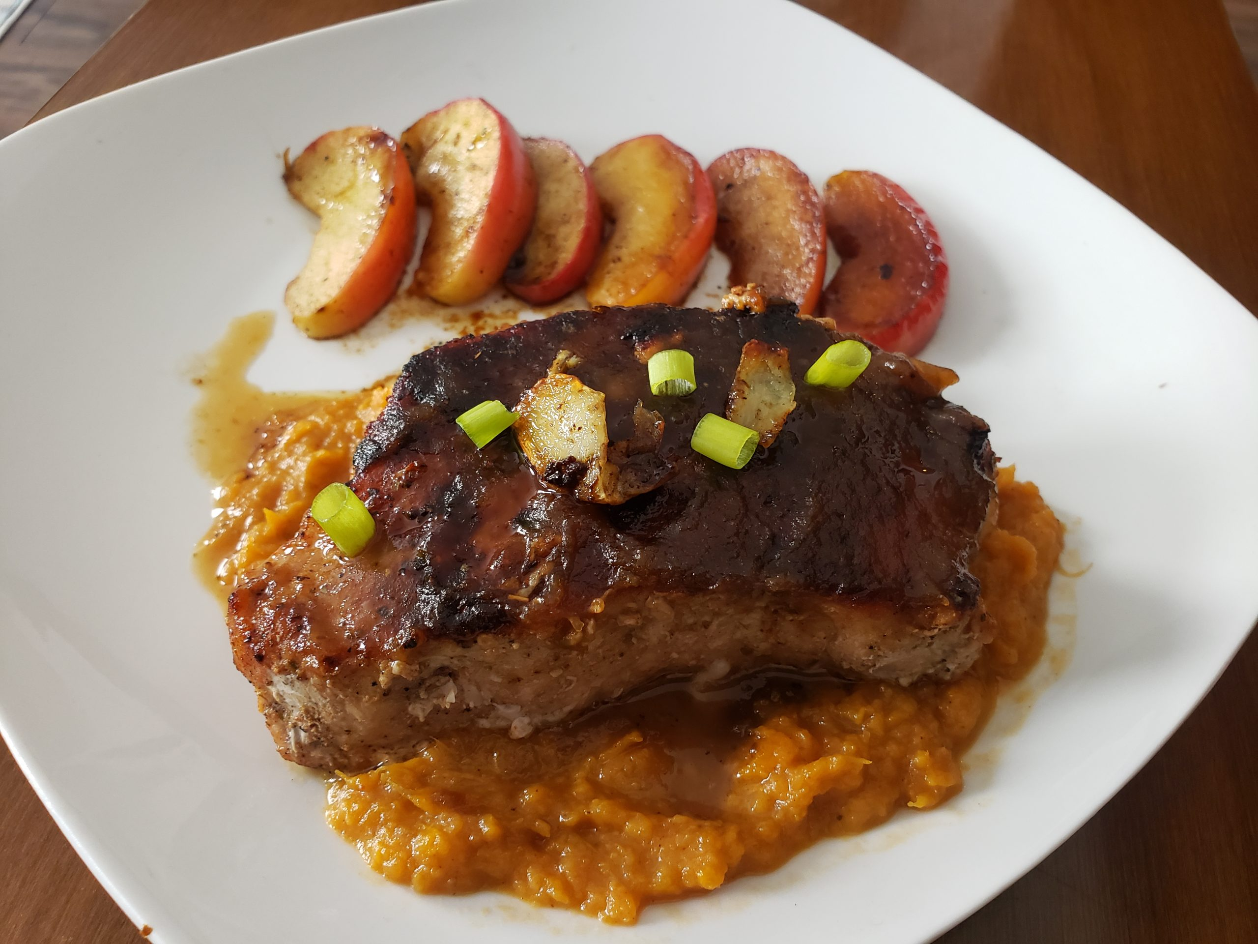 SWEEETHEAT Apple Butter and Sage Pork Chops
