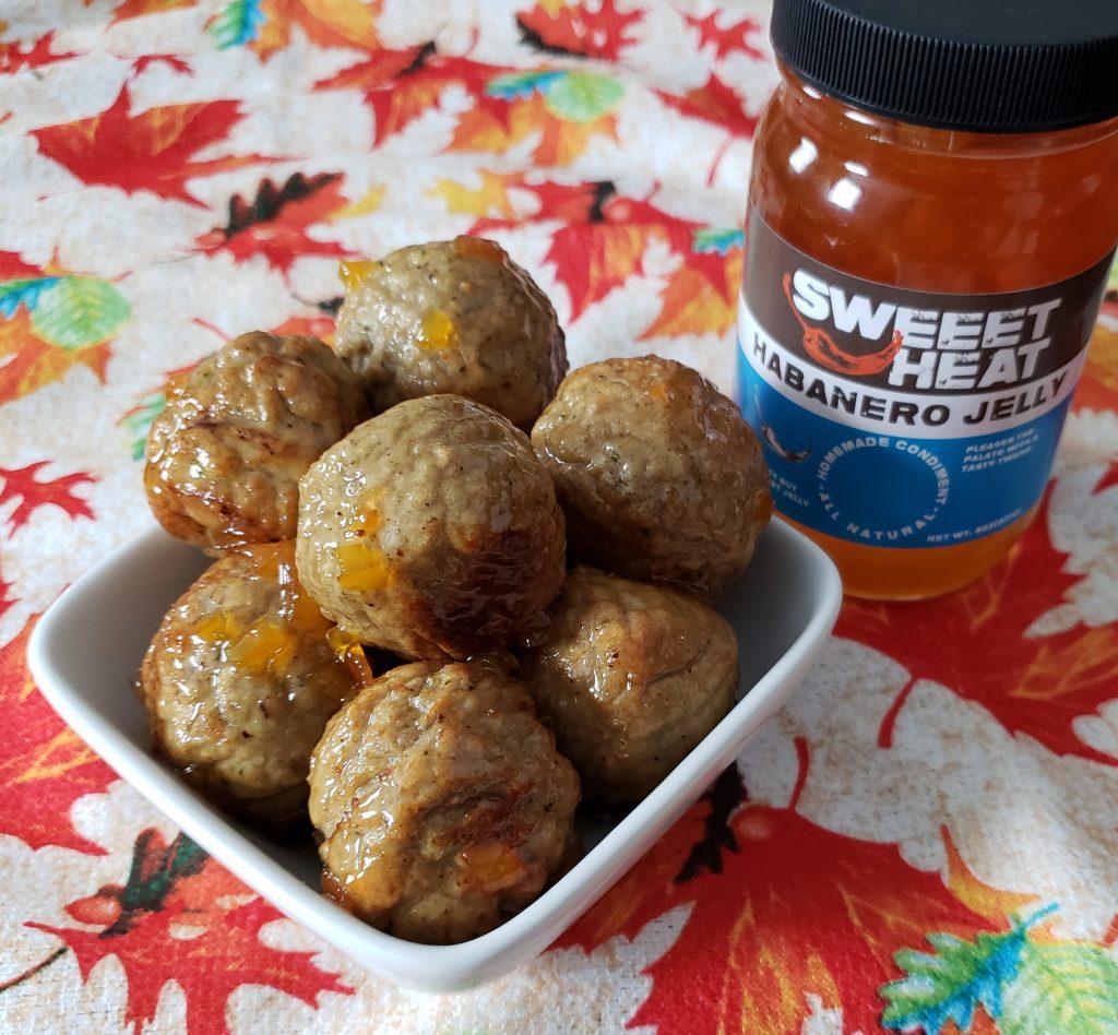 SWEEETHEAT Habanero Jelly Glazed Meatballs